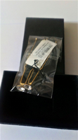 Boxed gold tone clear stone hair pins (Code 3406)